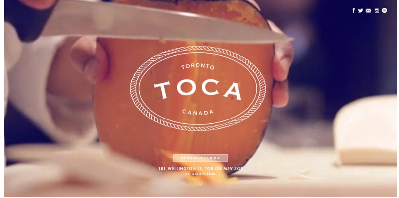 toca website design